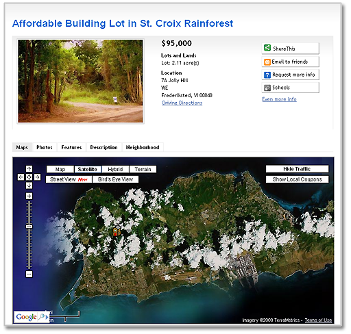 Affordable Building Lot in St. Croix Rainforest