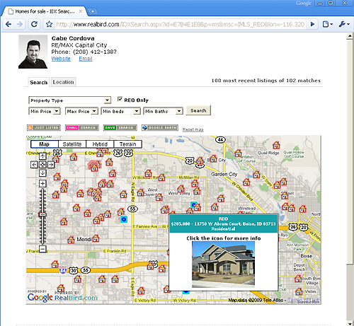 Boise Idaho Bank Owned Homes Search