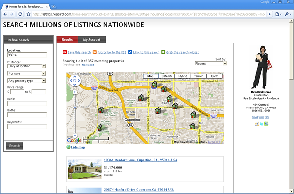 RealBird Property Map Search Demo