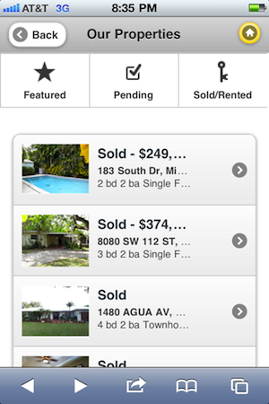 RealBird Mobile Real Estate Websites