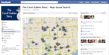 Map-based Search Facebook