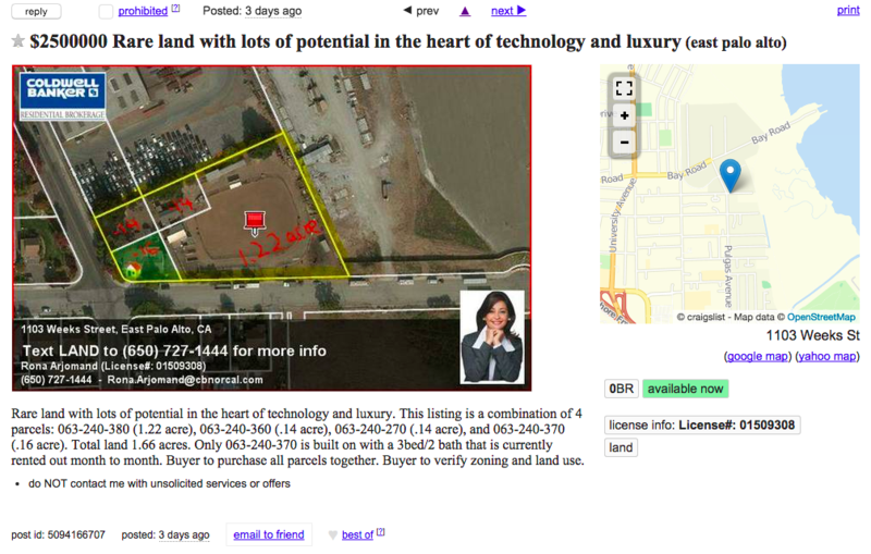 Rare land with lots of potential in the heart of technology and luxury