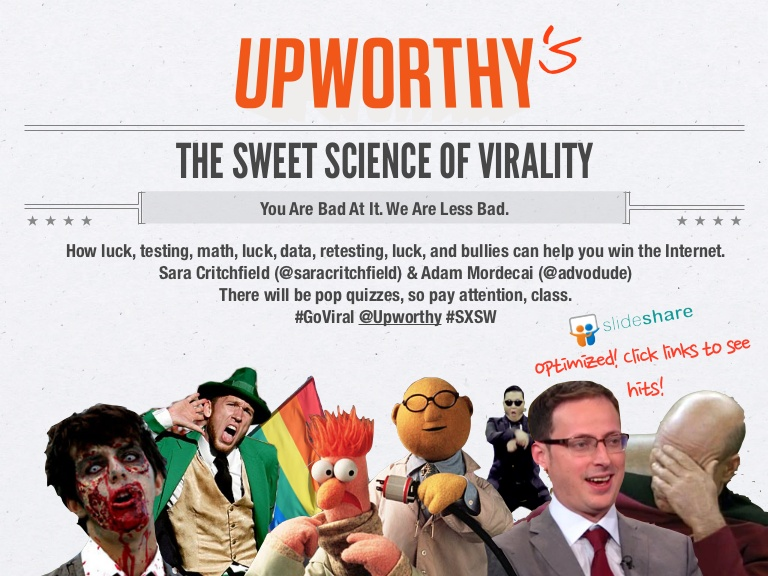 Upworthy The Sweet Science Of Viral Marketing