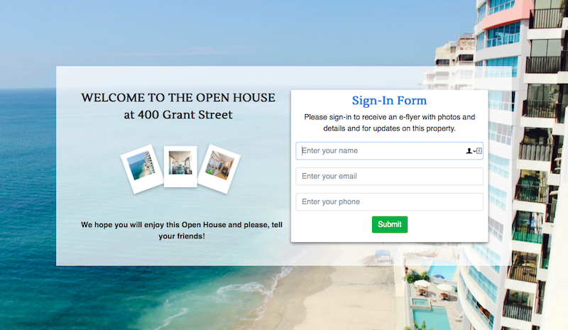 RealBird Open House Sign-In Form 800