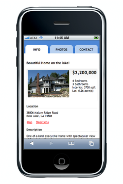 Real estate on iPhone