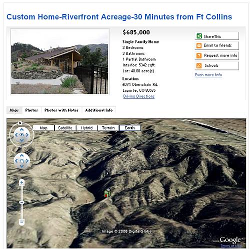 Google Earth on RealBird